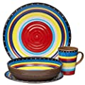 Melamine Dinnerware Set, 16 Piece, Service for 4
