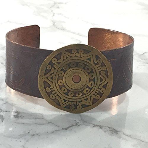 Aztek Metal (Tribal Mixed Metal Copper and Brass Cuff Bracelet)