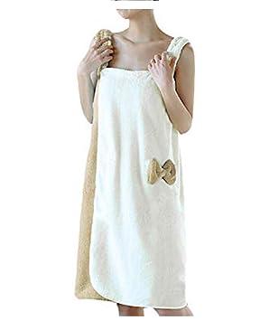 obtenir pas cher site réputé Los Angeles YJZQ Robe de Bain pour Femme Serviette sans Bandeau Cheveux Serviette de  Bain Peignoir de Douche Peignoir éponge Séchage Rapide pour Baigner Sauna