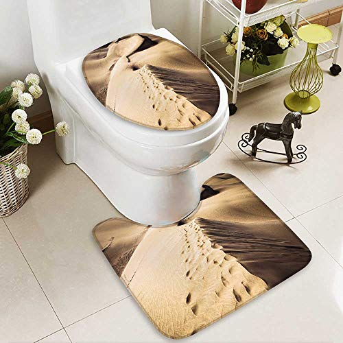 aolankaili Large Contour Mat Sandy dunes in famous natural Maspalomas beach on Gran Canaria Spain Non-Slip Microfiber Bathroom mat with Anti Skid by aolankaili