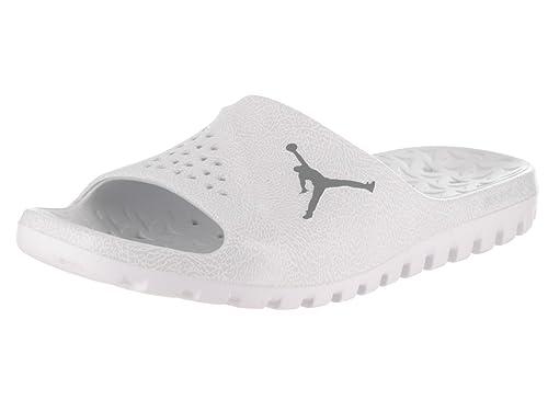 save off fad0e dbf10 Nike Mens Jordan Super.Fly Team 2 Graphic Slide Platinum Synthetic Sandals  41 EU