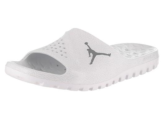 aabab443502 Jordan Nike Men's Super.Fly Team Slide 2 Pure Platinum/Cool Grey/White