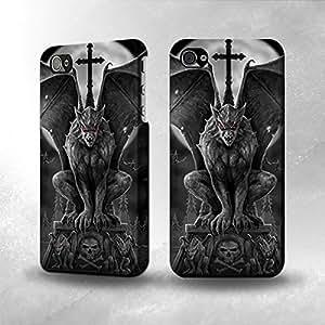 Apple iPhone 5 / 5S Case - The Best 3D Full Wrap iPhone Case - Gargoyle Devil Demon