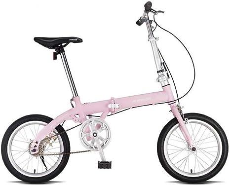 AOHMG Bicicleta Plegable Adulto, Single velocidades Peso Ligero ...