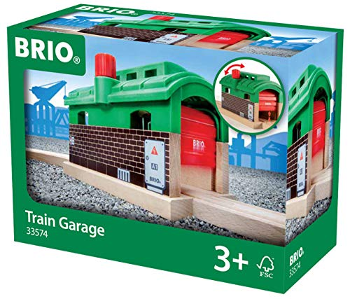 - BRIO World - 33574 Train Garage | Toy Train Accessory for Kids Age 3 and Up