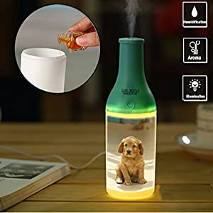 Spa Essential Oil Diffuser Compact Ultrasonic Aromatherapy Diffuser With Ionizer USB for Bedroom Home Office Car-251_Puppy, Dog, Domestic Animal, Beige, Pet