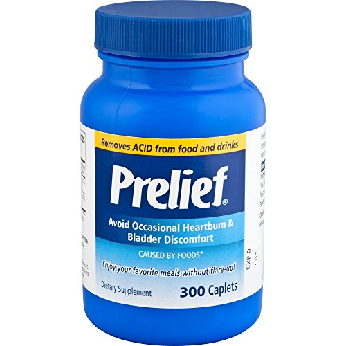 Prelief Acid Reducer Caplets 300 Count Dietary Supplement to reduce up to 95% of the acid in High-Acid Food and Beverages