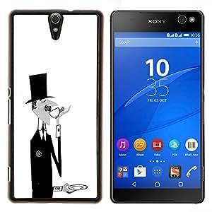 Dragon Case - FOR Sony Xperia C5 Ultra - sir monsieur black white coffee moustache - Caja protectora de pl??stico duro de la cubierta Dise?¡Ào Slim Fit