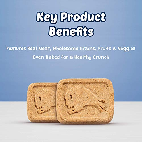 Blue Buffalo Health Bars Natural Crunchy Dog Treats Biscuits, Bacon, Egg & Cheese 48-oz box(Packaging May Vary)