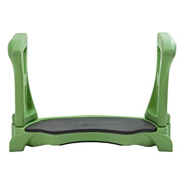 Premium Quality Garden Kneeler Bench with Large Contoured Sitting Area & Soft Foam Knee Pad - Made in USA by Vertex - Model GB2665-GN