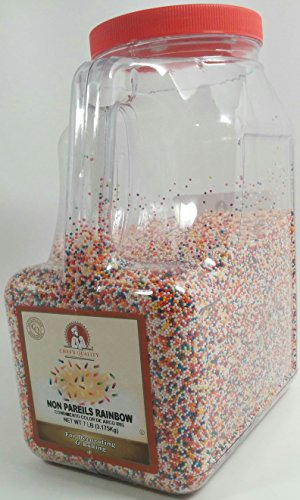 - Chef's Quality Rainbow Nonpareils (7 Pounds) For Decorating & Baking