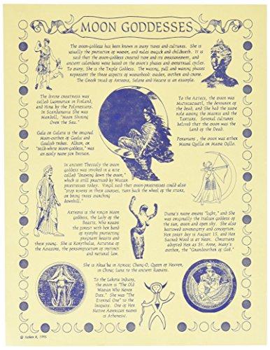 1 X Moon Goddess Poster parchment - Moon Goddess Art