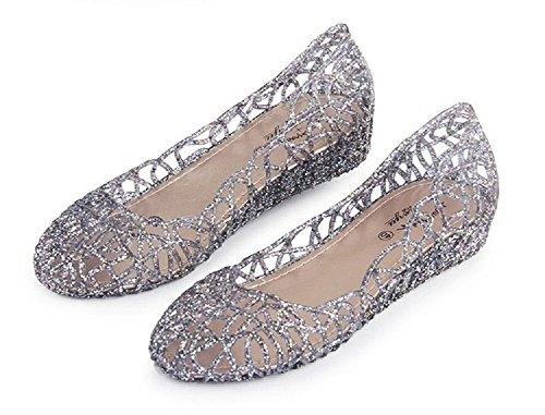 Ballerine Été Fête Rose De Femme Beach Jaune Blanc Slip Respirante Chaussures On Compensées Jelly 35 Sandales Mode 40 Noir Avec Or Pluie qFgEwF07