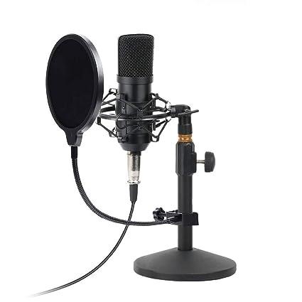 Amazon.com: Kit de micrófono de condensador USB para PC y ...