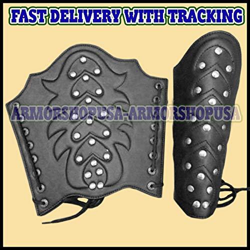 Roman Stud Adult Costumes - uniquewonderitems Roman Leather ARM Guard BRACERS