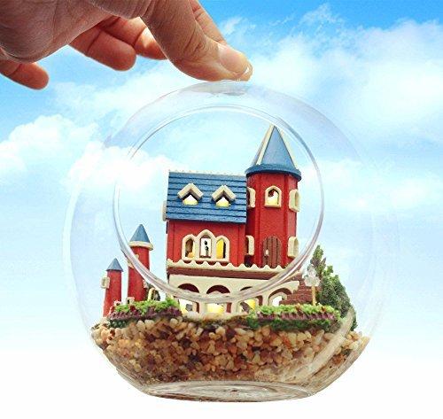 DIY Glass Ball人形House Model Building Kits木製ミニ手作りミニチュアドールハウス–-alice Dream Castleの商品画像