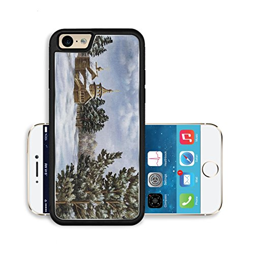 Pine Cupola (Liili Premium Apple iPhone 6 iPhone 6S Aluminum Backplate Bumper Snap Case Picture oil paints on a canvas Landscape with pines and a temple Russia Photo)
