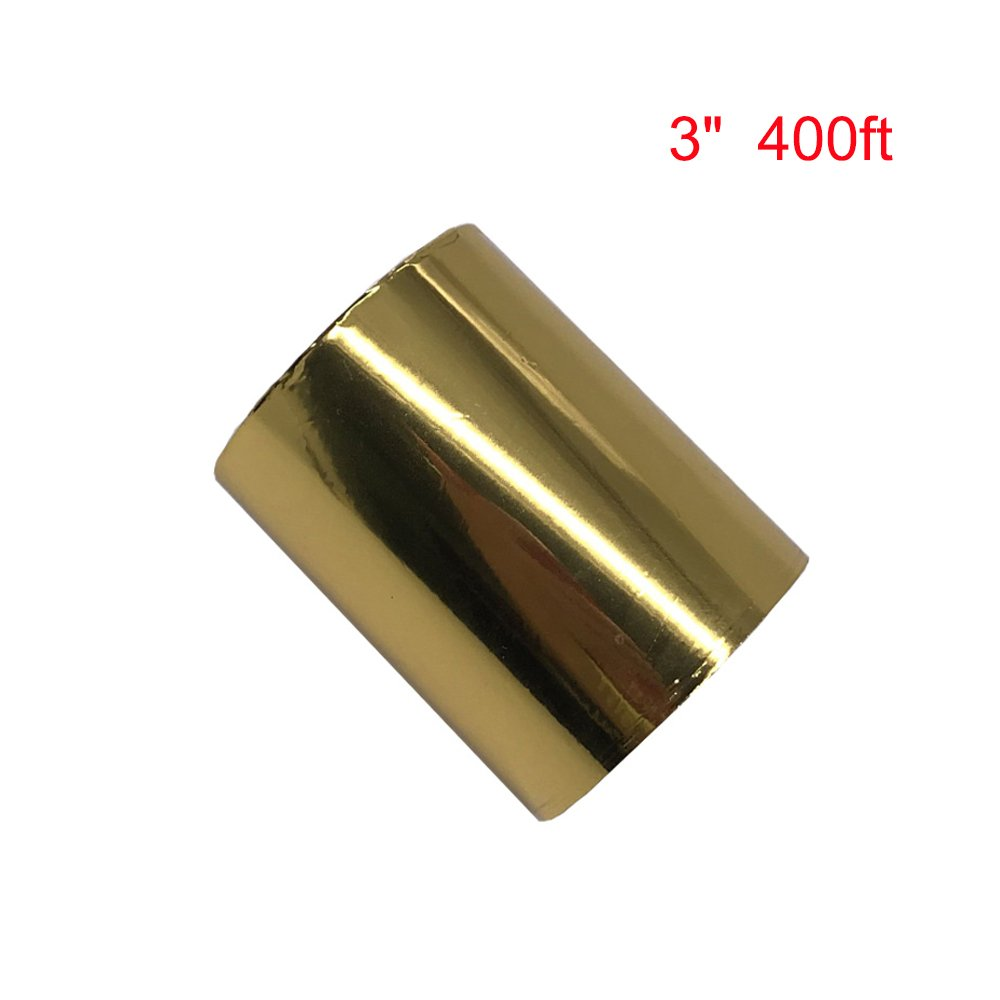 Hot Foil Stamping Paper for Leather Bronzing Machine PU Heat Transfer Anodized Gilded Paper (4cm Width) ToAuto