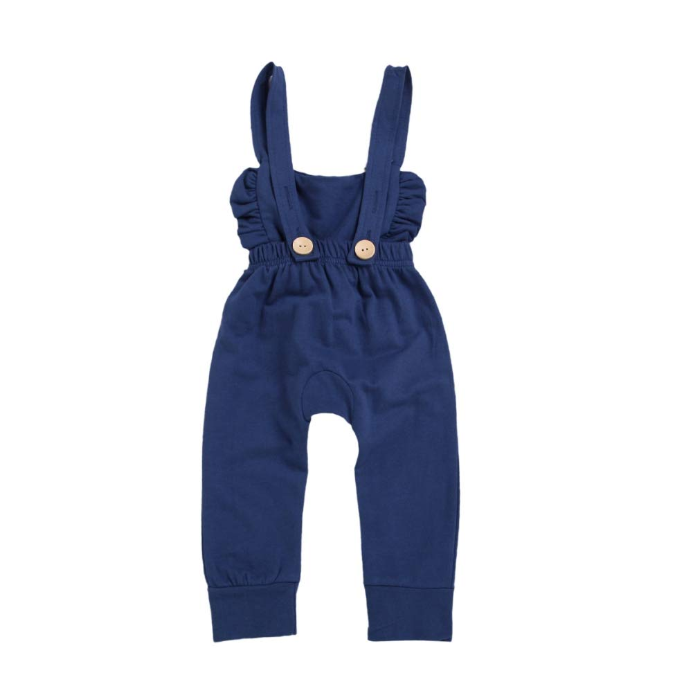 zhangwei Toddler Dungarees Kids Baby Girl Stripes Jumpsuit Romper Overalls Pants Cotton Outfits