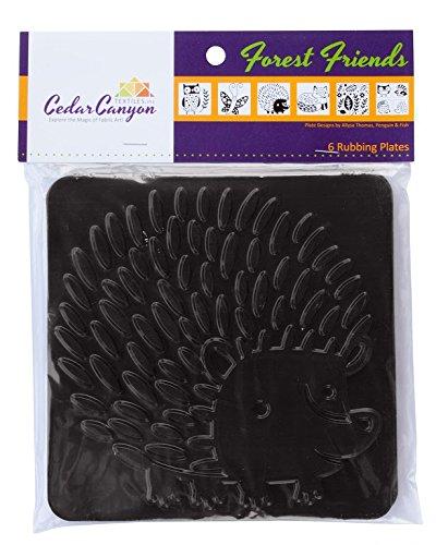 Cedar Canyon Textiles Text CCT4008 Plastic Artist's Paintstiks Rubbing Plate, Forest Friends, 6-Pack