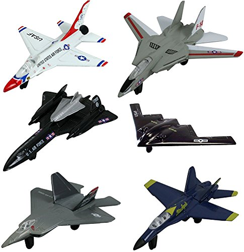 Fighter Plane Hornet (InAir Modern Planes 6-pc Set with Aircraft ID Guide - Assortment 1)