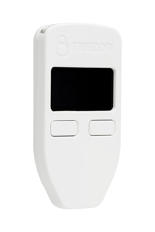TREZOR SL TRZ Cartera hardware Bitcoin color Blanco
