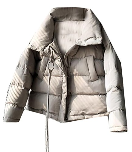 Down UK Jacket Beige Womens Winter Quilted Short Coat Loose Warm today YUqxfgq