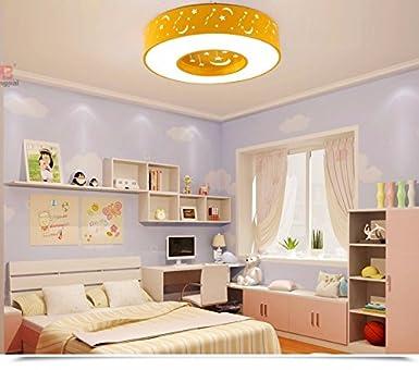 GQLB Kinder Decke Lampen Kreis Sterne Mond Mädchen Jungen Zimmer Schlafzimmer  Lampen ...