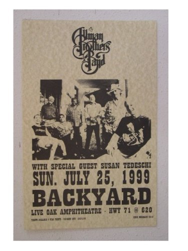 - The Allman Brothers Band Shot Poster Gig Handbill 1999