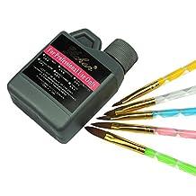 Fashion gallery Acrylic Liquid 120ml, 5 pcs Crystal Nail Brush Acrylic Nail Art UV Gel Nail Tools Acrylic Nail sets Kit