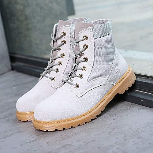 amp;TT Stivali Di Paio Shoes W For Martin Militari Men Gray Women All'aperto 42 Desert Stivali And Gray Tooling pqtdn45