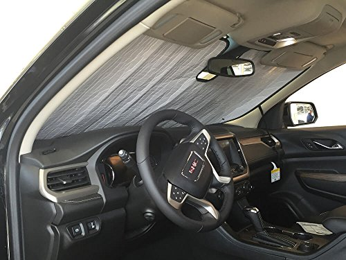 HeatShield The Original Auto Sunshade, GMC Acadia SUV w/Sensor 2017, 2018, 2019, Silver Series - Custom Sunshield