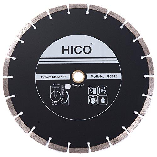 - HICO Diamond Blades 12 Inch Segmented Turbo Teeth Diamond Blade Granite & Marble Diamond Blades, 5/8