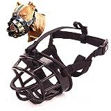 Umisun Basket Dog Muzzles-Soft Adjustable Breathable Mask Anti Biting Chewing Barking Training Dog Muzzle for Small Medium Large Dogs,Black 4