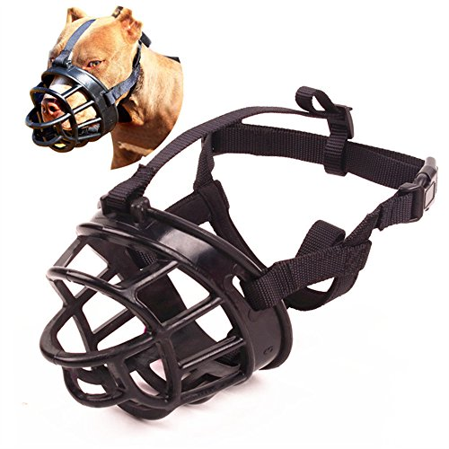 Umisun Basket Dog Muzzles-Soft Adjustable Breathable Mask Anti Biting Chewing Barking Training Dog Muzzle for Small Medium Large Dogs,Black3 ()