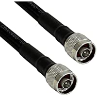 Altelix N Male to N Male 400 Ultra Low Loss Coaxial Cable Assembly 100 Feet (Low Loss Antenna Cable 100ft)