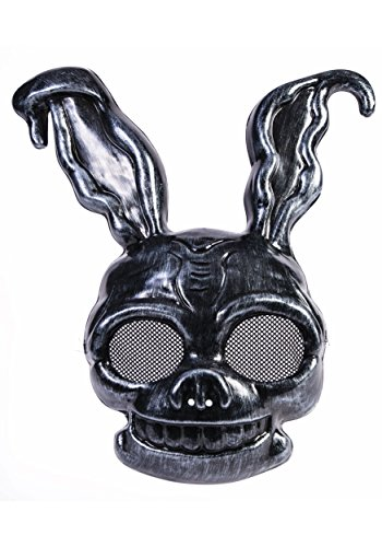 Dark Frank The Creepy Black Rabbit PVC Half Mask Bunny Animal Costume -