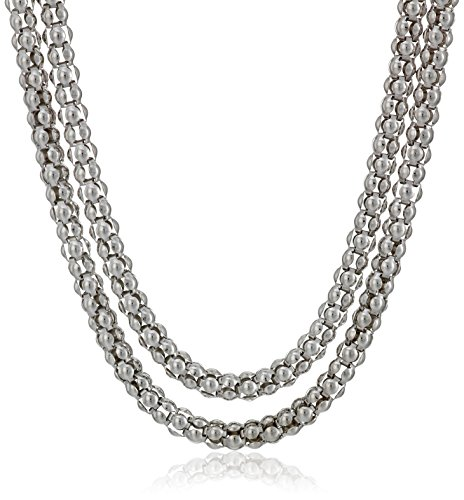 Sterling Silver Italian 2.95 mm Popcorn Chain Necklace, 20