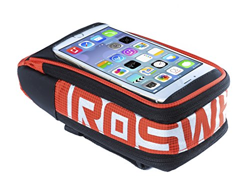 Roswheel LOHAS Series 111272 Water Resistant Bike Handlebar Bag Bicycle Frame Pannier with 5.5 inches Transparent Touch Screen Phone Pouch