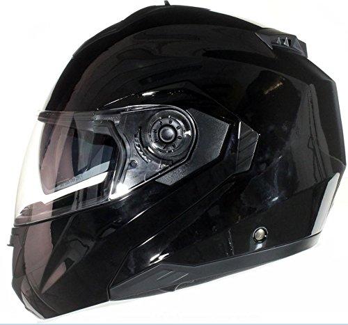 L Verde Opaco Qtech Casco MODULARE per Moto con Integrale Doppia Visiera 59-60cm