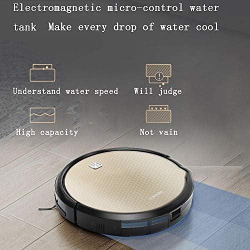 XJZKA Robot de Balayage de contrôle Intelligent APP, aspirateur Rechargeable Automatique Ultra-Silencieux adapté au Nettoyage de Tapis de Poils d\'animaux