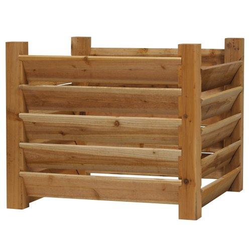 32 in. Cedar Compost Bin (Wooden Compost Bin)