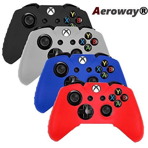aerowayr-pack-of-4-color-combo-flexible-silicone-protective-case-for-xbox-one-game-controller-black-