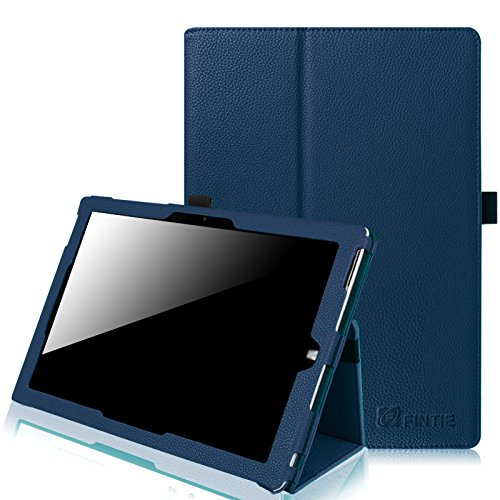 Fintie Microsoft Surface 3 Case - Premium PU Leather Folio Stand Cover with Stylus Holder for Microsoft Surface 3 10.8-Inch Windows Tablet (Not Fit Surface Pro 3 12-Inch), Navy
