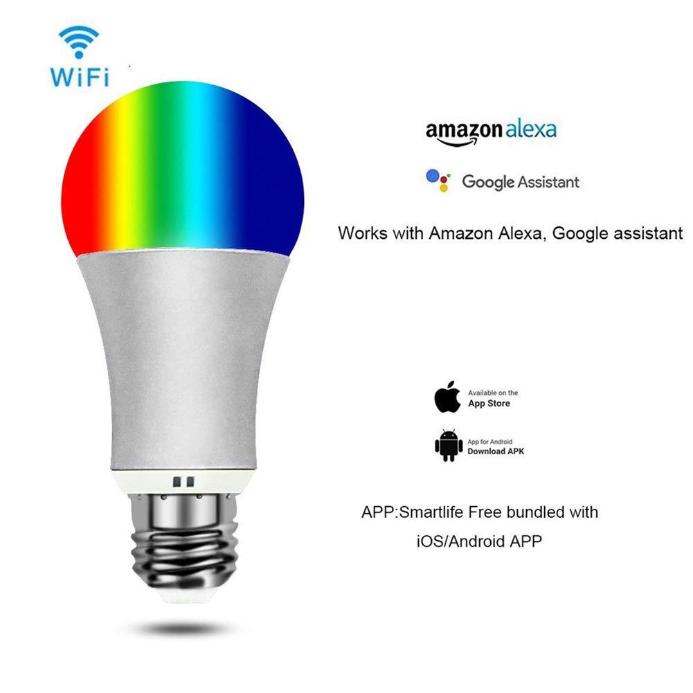 Amazon com: XHJZ-W WiFi Smart Light Led Bulbs Bayonet, B22