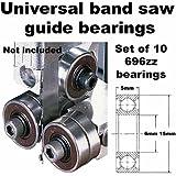 Universal Band Saw Guide Bearings (Set of 10 Bearings Only)