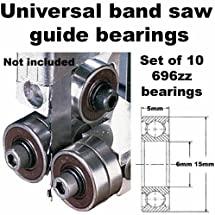 Universal Band Saw Guide Bearings (Set of 10 Bearings Only)