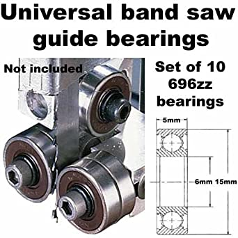 Universal Band Saw Guide Bearings Set Of 10 Only