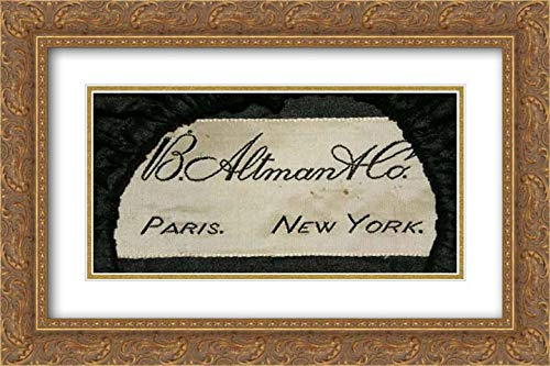 American Culture - 24x16 Gold Ornate Frame and Double Matted Museum Art Print - Mourning Bonnet