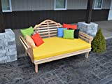 """BEST DAYBED for HOME FURNITURE & PATIO SEATING, Cedar English Garden Day Bed Bench, Amish Made in US in 75"""" Twin and 6' Lengths, Gorgeous for Sun Rooms & Fun Outdoor Living"""